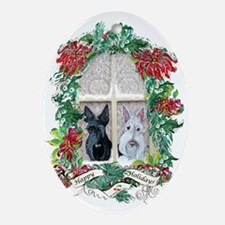 Scottie Terrier Holiday Oval Ornament