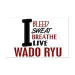 Bleed Sweat Breathe Wado Ryu Mini Poster Print