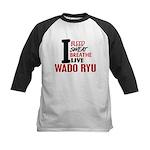 Bleed Sweat Breathe Wado Ryu Kids Baseball Jersey