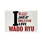Bleed Sweat Breathe Wado Ryu Rectangle Magnet (100