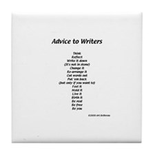 Advice to Writers--Tile Coaster