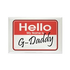 Hello, My name is G-Daddy Rectangle Magnet