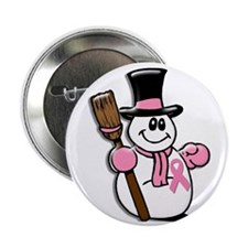 "Holiday Snowman 1.1 2.25"" Button"
