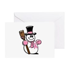 Holiday Snowman 1.1 Greeting Card