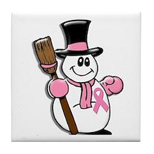 Holiday Snowman 1.1 Tile Coaster