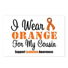 I Wear Orange For My Cousin Postcards (Package of
