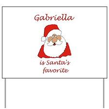 Gabriella Christmas Yard Sign