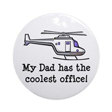 Dad's Helicopter Ornament (Round)