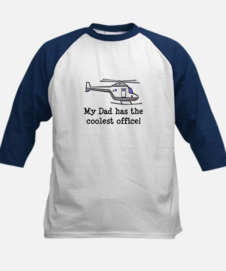 Dad's Helicopter Kids Baseball Jersey