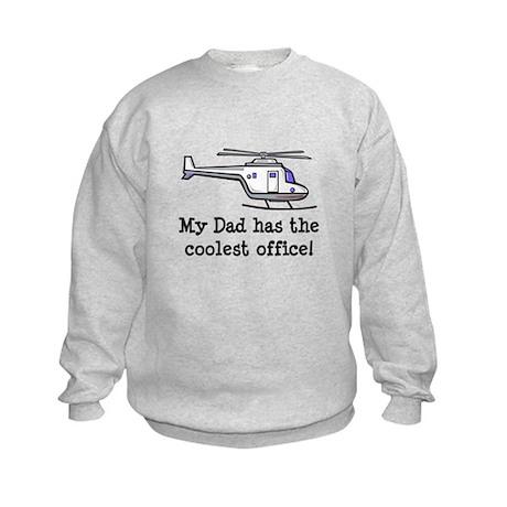 Dad's Helicopter Kids Sweatshirt