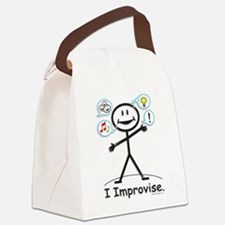 Improve comedy stick figure Canvas Lunch Bag