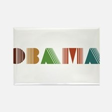 Obama Colours Rectangle Magnet