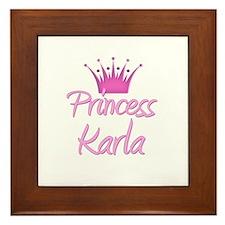 Princess Karla Framed Tile