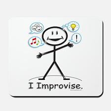 Improve comedy stick figure Mousepad