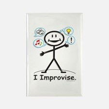 Improve comedy stick figure Rectangle Magnet