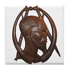 African Warrior Tile Coaster