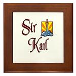 Sir Karl Framed Tile