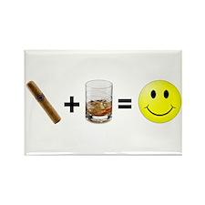 Cigar & Bourgon Rectangle Magnet