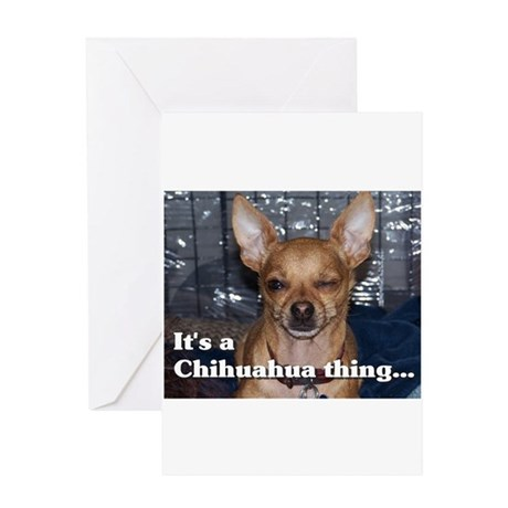 thing-chihuahua008 Greeting Cards