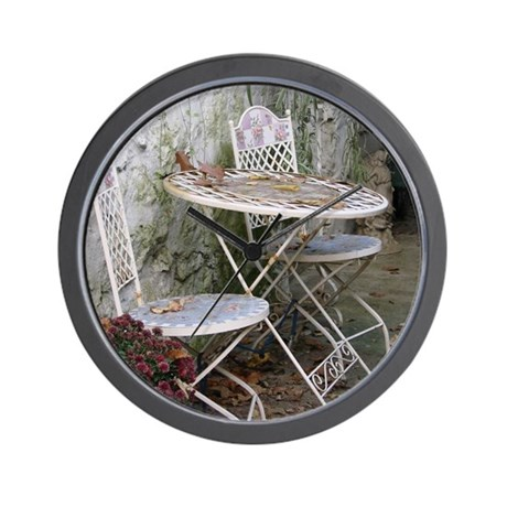 table and chairs Wall Clock