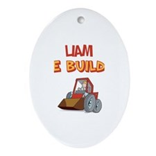 Liam the Builder Oval Ornament