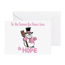 Holiday Snowman 1.2 Greeting Card