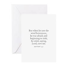 MATTHEW  14:30 Greeting Cards (Pk of 10)