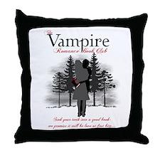 Vampire Romance Book Club Throw Pillow