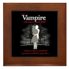 Vampire Romance Book Club Framed Tile