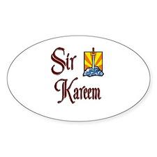 Sir Kareem Oval Decal