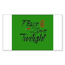 Peace, Love, Twilight Rectangle Decal