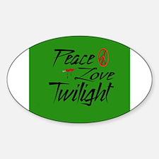 Peace, Love, Twilight Oval Decal