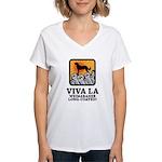 Weimaraner Long-Coated Women's V-Neck T-Shirt