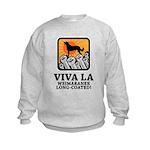 Weimaraner Long-Coated Kids Sweatshirt
