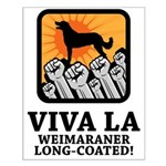 Weimaraner Long-Coated Small Poster