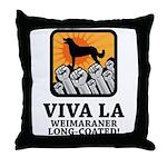 Weimaraner Long-Coated Throw Pillow