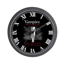 Vampire Romance Book Club Wall Clock
