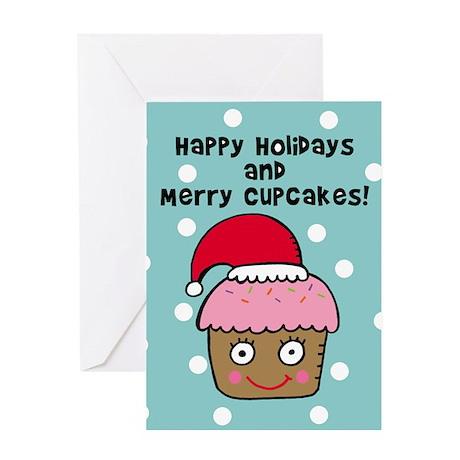 Cupcake Christmas Cards Greeting Card