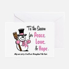 Holiday Snowman 1.3 Greeting Cards (Pk of 20)
