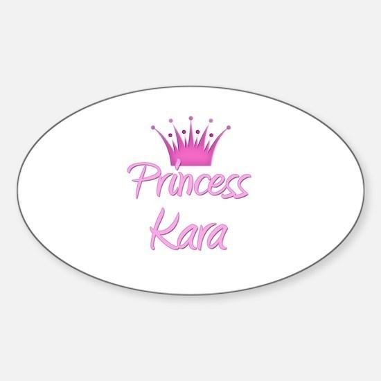 Princess Kara Oval Decal