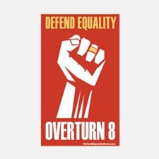 Overturn Prop 8 Rectangle Decal
