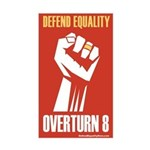 Overturn Prop 8 Rectangle Sticker