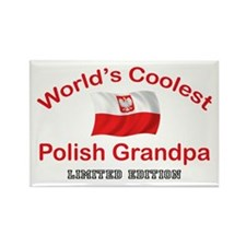 Coolest Polish Grandpa Rectangle Magnet