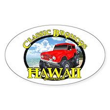 www.ClassicBroncosHawaii.Com Oval Decal