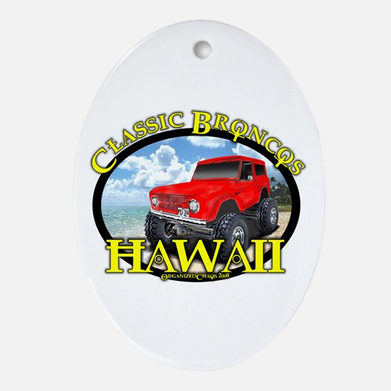 www.ClassicBroncosHawaii.Com Oval Ornament