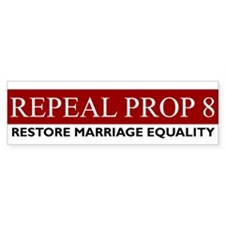 Restore Marriage Equality Bumper Bumper Sticker