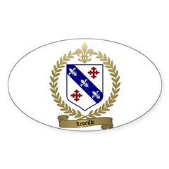 LEVEILLE Family Oval Decal