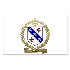LEVEILLE Family Rectangle Decal