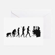 Film Editor Evolution Greeting Cards (Pk of 20)