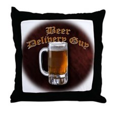 Beer Delivery Throw Pillow